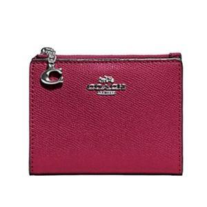 Coach Snap Card Case Wallet Pink